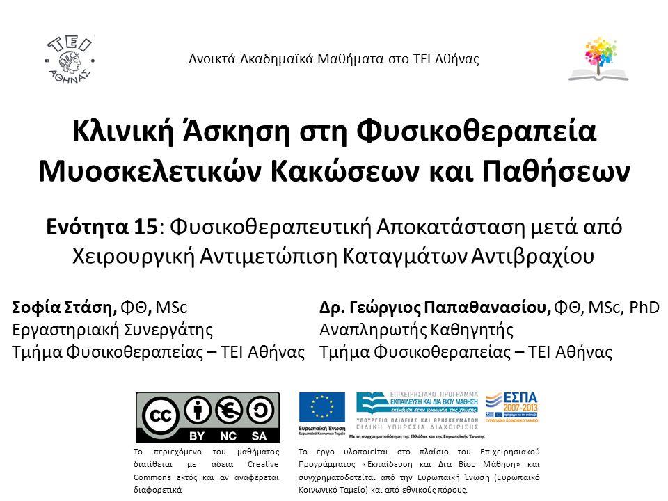 Σημείωμα Χρήσης Έργων Τρίτων Το Έργο αυτό κάνει χρήση των ακόλουθων έργων: Εικόνες από AO Foundation.AO Foundation