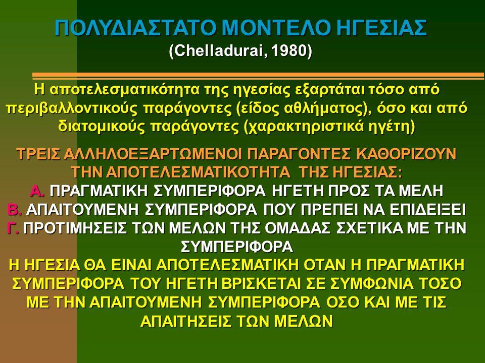 ΠΛΕΟΝΕΚΤΗΜΑΤΑ ΜΟΝΤΕΛΟΥ (Horn, 1992) A.TO MΟΝΤΕΛΟ ΑΝΑΠΤΥΧΘΗΚΕ ΕΙΔΙΚΑ ΓΙΑ ΤΟΝ ΑΘΛΗΤΙΣΜΟ Β.