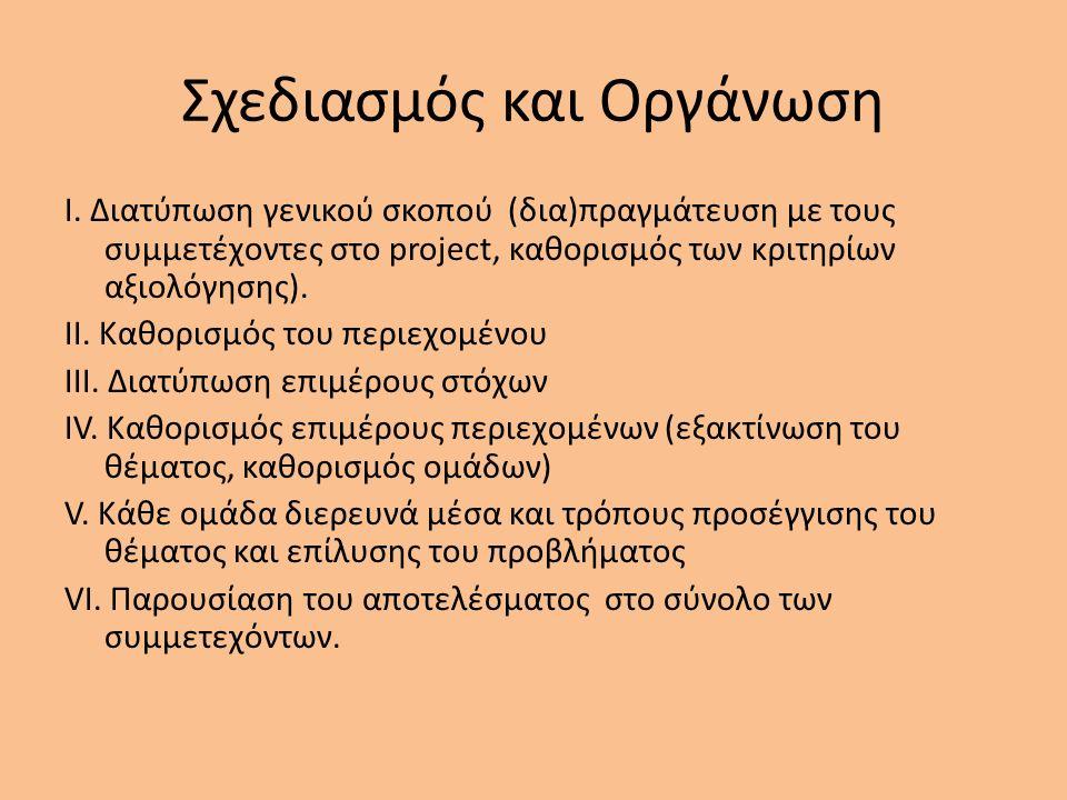 Σχεδιασμός και Οργάνωση I.