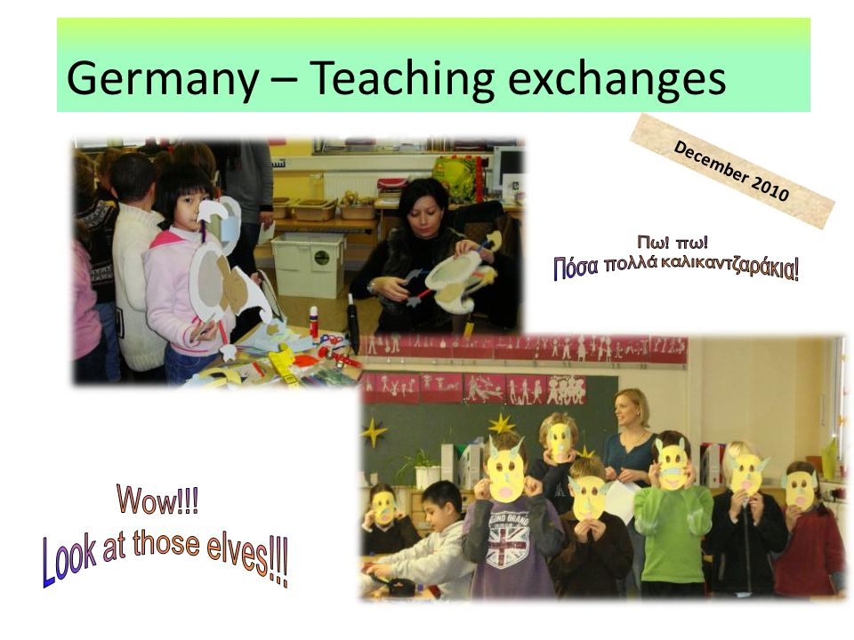 Germany – Teaching exchanges December 2010