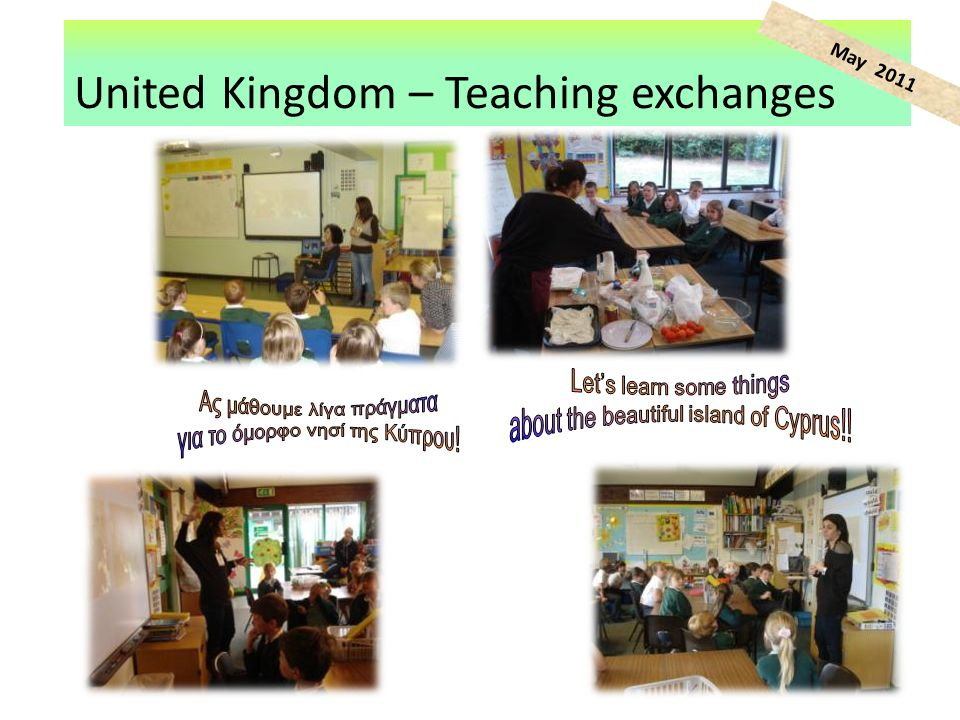 United Kingdom – Teaching exchanges May 2011