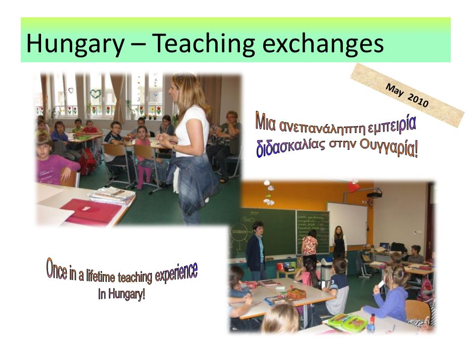 Hungary – Teaching exchanges May 2010