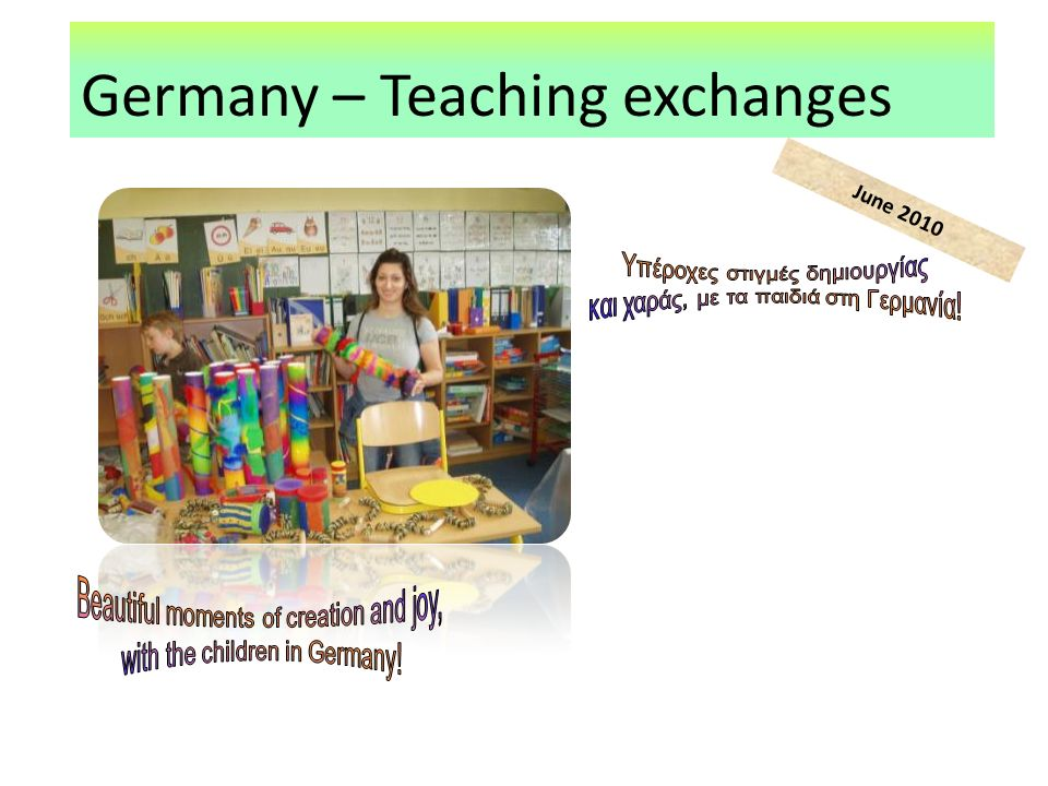 Germany – Teaching exchanges June 2010