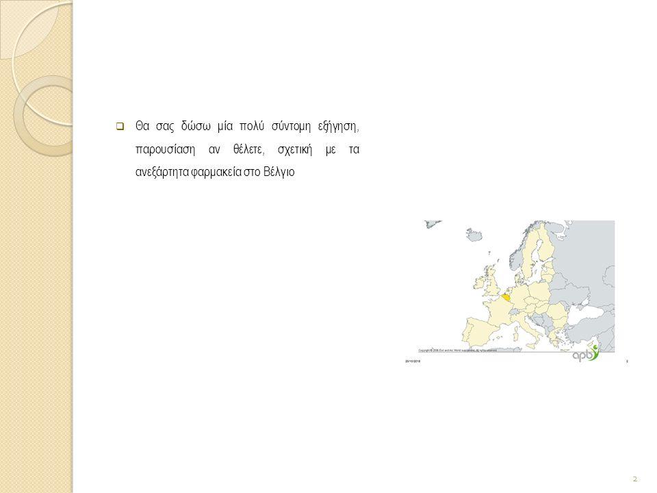 Ολοι γνωρίζουμε ότι στην Ελλάδα η αναλογία φαρμακείου επί του πληθυσμού είναι ένα φαρμακείο για 1000 κατοίκους.