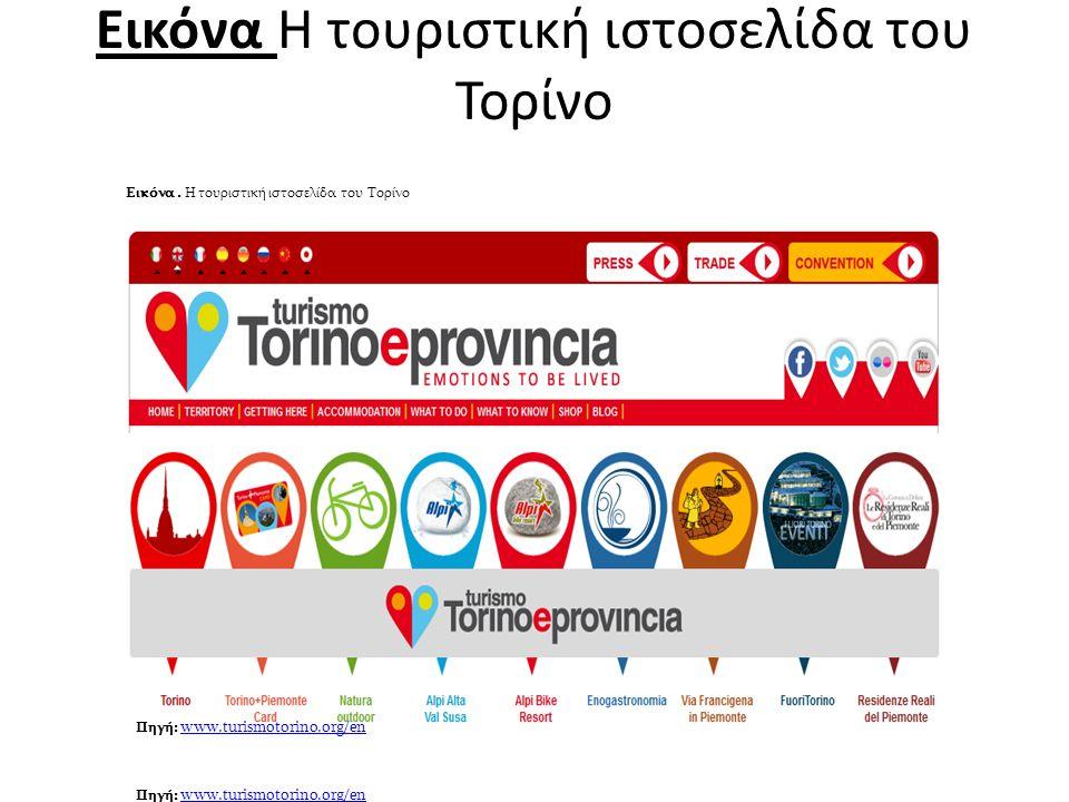 Εικόνα Η τουριστική ιστοσελίδα του Τορίνο Πηγή: www.turismotorino.org/en www.turismotorino.org/en Πηγή: www.turismotorino.org/en www.turismotorino.org/en Εικόνα.