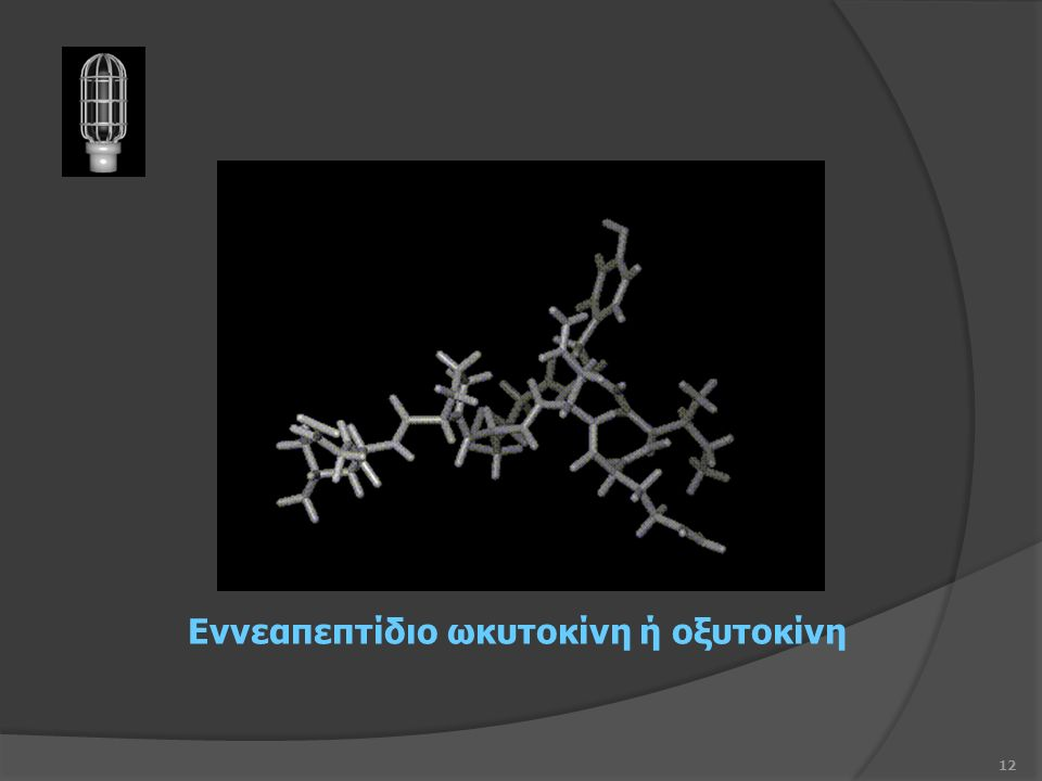 12 Εννεαπεπτίδιο ωκυτοκίνη ή οξυτοκίνη