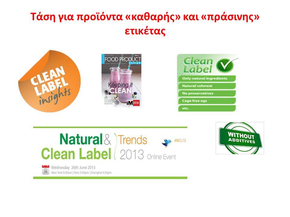 Τάση για προϊόντα «καθαρής» και «πράσινης» ετικέτας