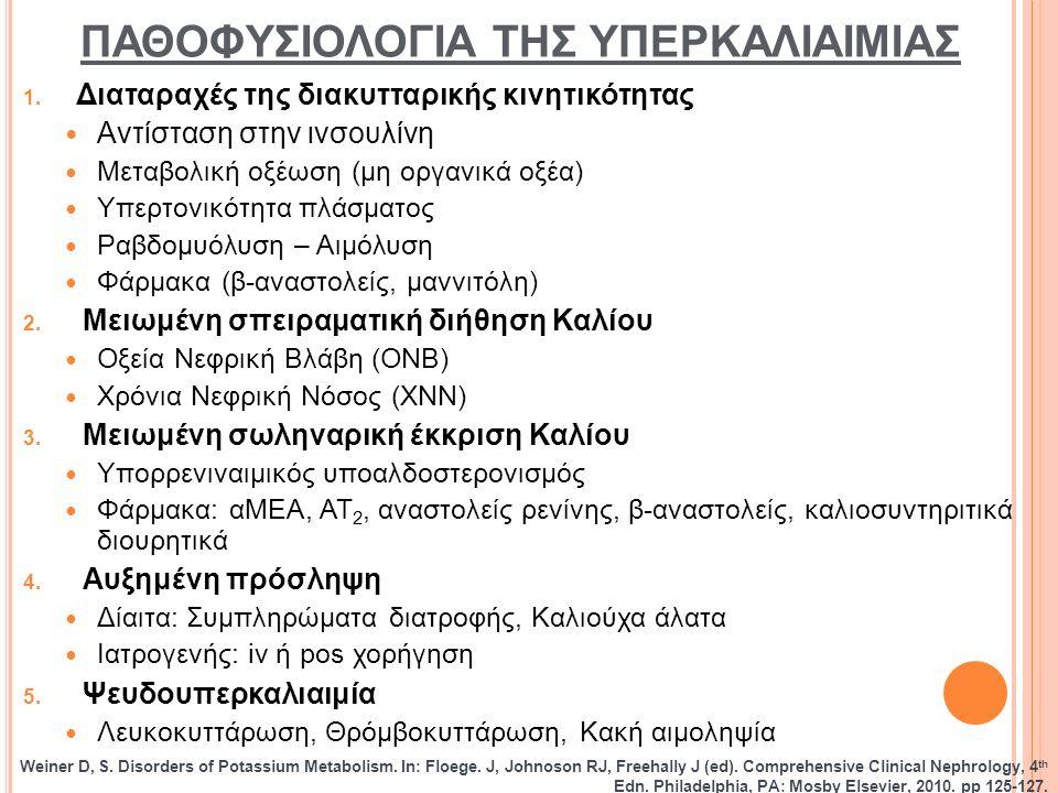 ΠΑΘΟΦΥΣΙΟΛΟΓΙΑ ΤΗΣ ΥΠΕΡΚΑΛΙΑΙΜΙΑΣ 1.