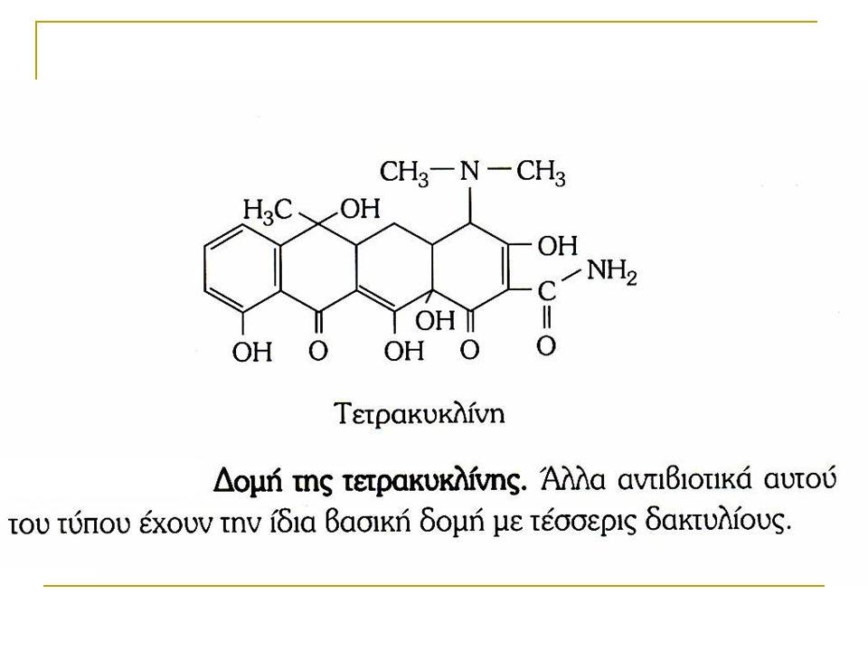 ΜΑΚΡΟΛΙΔΕΣ Ερυθρομυκίνη  Παρόμοιο φάσμα δράσης πενικιλλίνης G  Θεραπεία στρεπτοκοκκικών και σταφυλοκοκκικών λοιμώξεων Αζιθρομυκίνη Κλαριθρομυκίνη Ημισυνθετικές μακρολίδες  Κετολίδες Τελιθρομυκίνη (Ketek ® )
