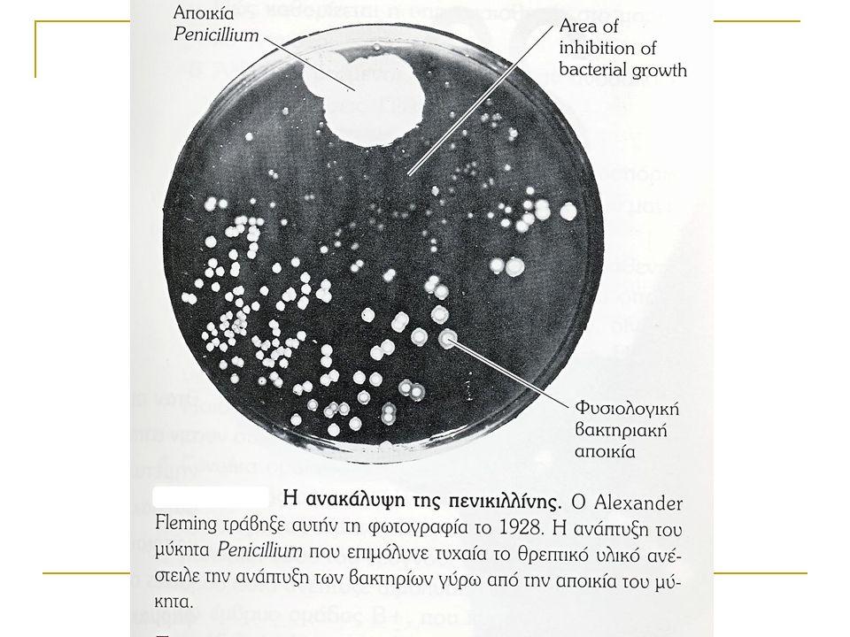 ΑΝΤΙΜΙΚΡΟΒΙΑΚΑ ΦΑΡΜΑΚΑ Τα αντιμικροβιακά φάρμακα δρουν εμποδίζοντας την αύξηση του πληθυσμού των μικροοργανισμών εκλεκτική τοξικότητα