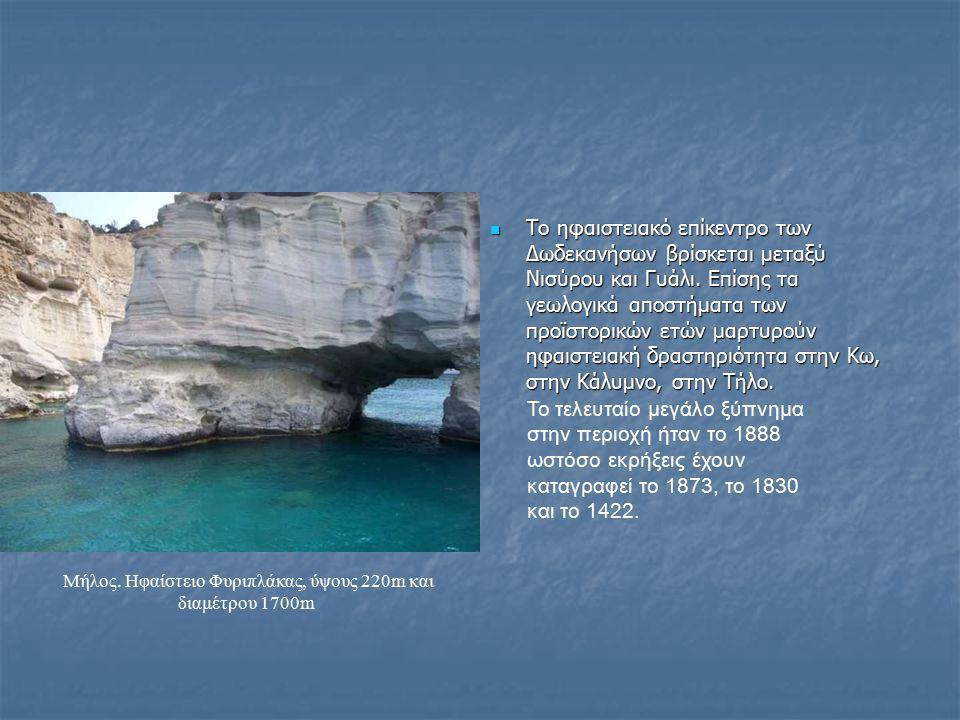 Το ηφαιστειακό επίκεντρο των Δωδεκανήσων βρίσκεται μεταξύ Νισύρου και Γυάλι. Επίσης τα γεωλογικά αποστήματα των προϊστορικών ετών μαρτυρούν ηφαιστειακ