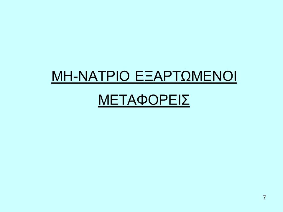 7 ΜΗ-ΝΑΤΡΙΟ ΕΞΑΡΤΩΜΕΝΟΙ ΜΕΤΑΦΟΡΕΙΣ