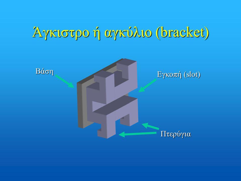Άγκιστρο ή αγκύλιο (bracket) Βάση Εγκοπή (slot) Πτερύγια
