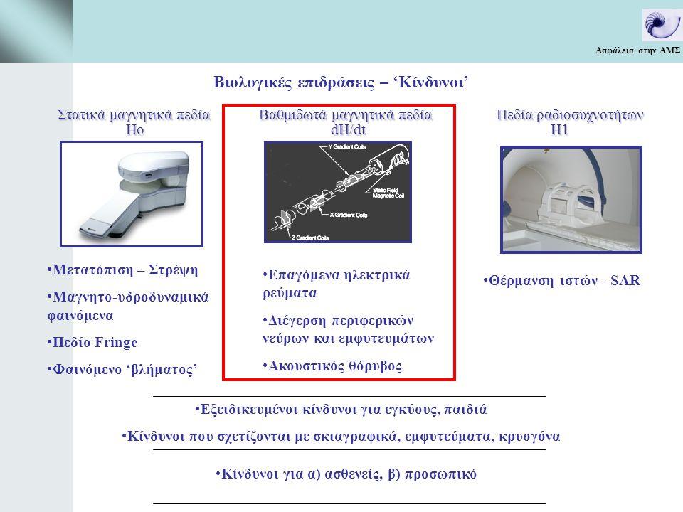 Ο ειδικός ρυθμός απορρόφησης SAR είναι μέτρο ελέγχου ισχύος της RF και εκφράζει την εκλυόμενη ενέργεια του RF πεδίου ανά μονάδα μάζας των βιολογικών ιστών (W/kg) Η ικανότητα απορρόφησης από έναν ιστό εξαρτάται από τη σχέση μεταξύ του μεγέθους του και του μήκους κύματος της RF ακτινοβολίας, αλλά και πολλούς άλλους παράγοντες Ασφάλεια στην ΑΜΣ Η1 rf – μαγνητικά πεδία