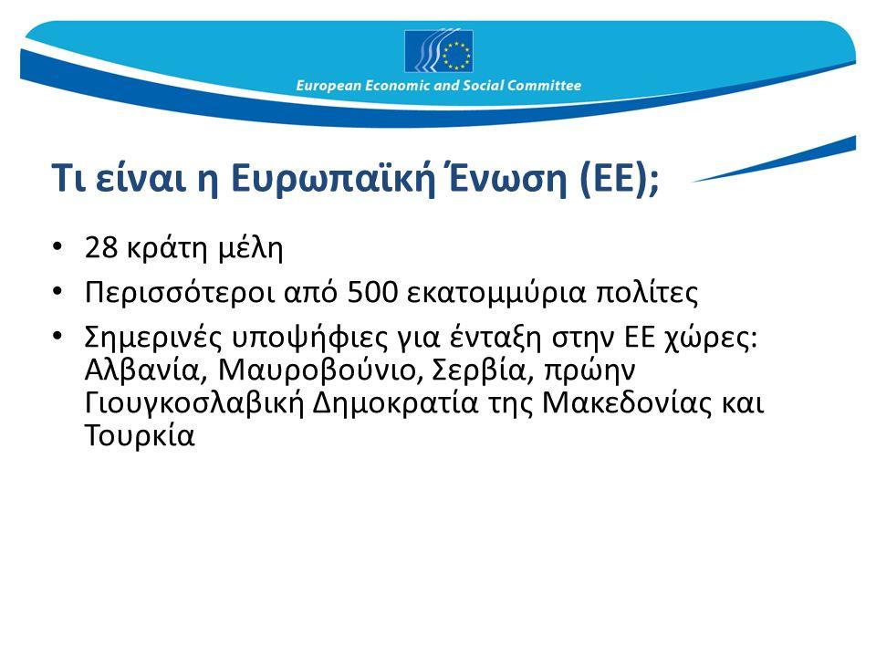 Μια γέφυρα μεταξύ της ΕΕ και της οργανωμένης κοινωνίας πολιτών Προβάλλει τα συμφέροντα της οργανωμένης κοινωνίας πολιτών Καθιστά δυνατή την έκφραση των απόψεων, σε ευρωπαϊκό επίπεδο, των οργανώσεων της κοινωνίας πολιτών των κρατών μελών