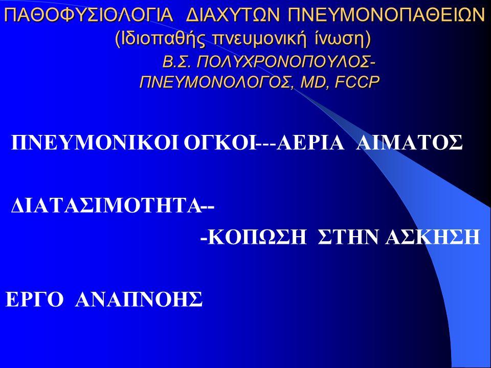 ΠΑΘΟΦΥΣΙΟΛΟΓΙΑ ΔΙΑΧΥΤΩΝ ΠΝΕΥΜΟΝΟΠΑΘΕΙΩΝ (Iδιοπαθής πνευμονική ίνωση) Β.Σ.