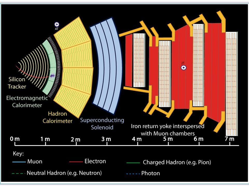ηλεκτρομαγνητικό καλορίμετρο  e ± ➞ πλήρης απορρόφηση (κρύσταλλοι μολύβδου)