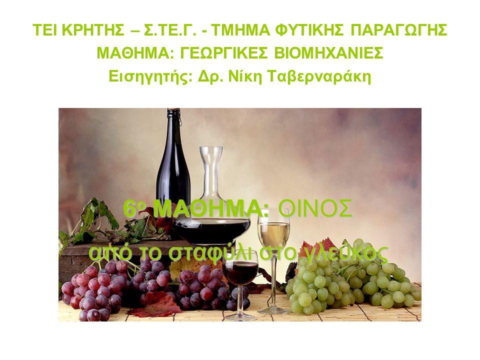 = Πολλά διαφορετικά προϊόντα από διαφορετικές ποικιλίες, τόπους, τρόπους καλλιέργειας & οινοποίησης… ΟΙΝΟΣ: …παράγεται αποκλειστικά από την αλκοολική ζύμωση (ολική ή μερική) νωπών σταφυλιών, σπασμένων ή όχι, ή γλεύκους σταφυλιών της Vitis vinifera… O.I.V.