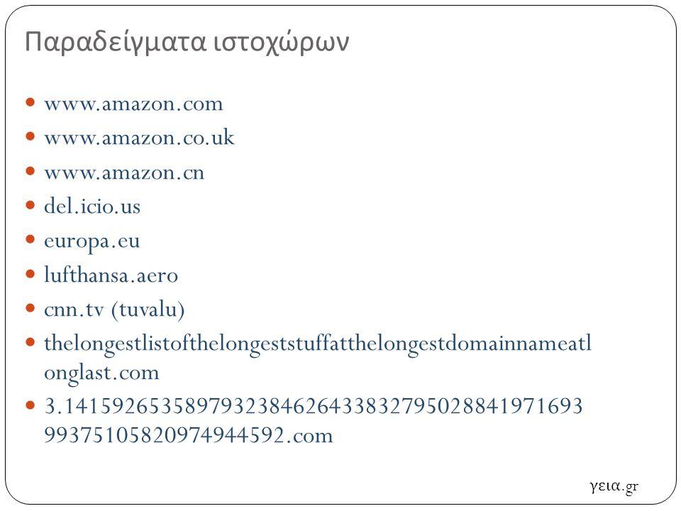 Τι είναι ο ιστοχώρος (website) Σύνολο από σελίδες υπερκειμένου (hypertext) … και hypermedia … που φιλοξενούνται σε ένα εξυπηρετητή ιστού (web server) Έχει μοναδική διεύθυνση (URL – Uniform Resource Locator) Μοναδική, με την έννοια ότι ένα URL αντιστοιχεί σε ένα ιστοχώρο, όχι το αντίστροφο...