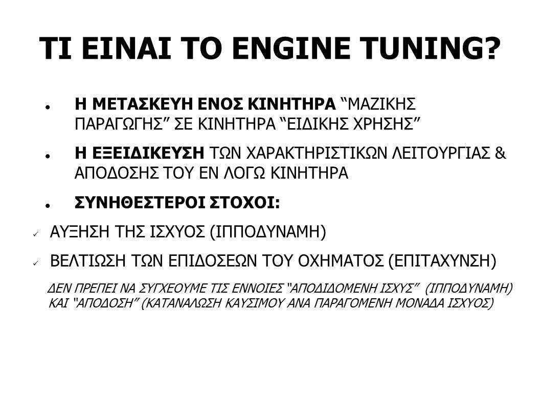 ΕΙΔΙΚΕΣ ΠΕΡΙΠΤΩΣΕΙΣ TUNING TUNING ΓΙΑ ΑΞΙΟΠΙΣΤΙΑ (ΕΝΙΟΤΕ DE-TUNING/DE-RATING, Λ.Χ.
