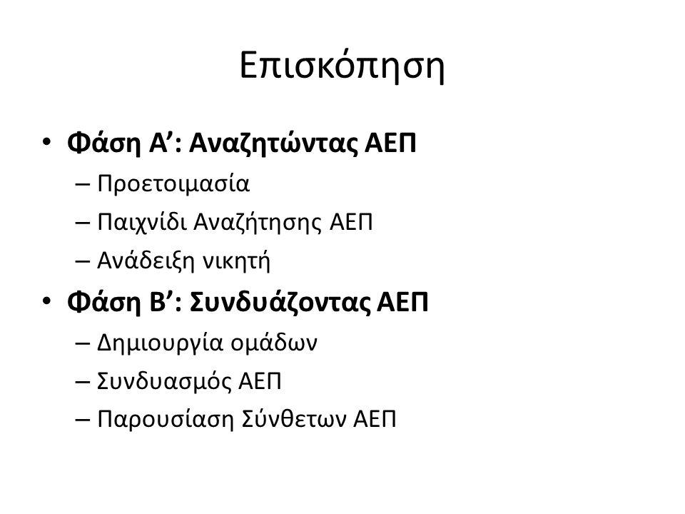 Παράδειγμα 3 Οι παίκτες αποφασίζουν από κοινού το θέμα για το οποίο θα ψάξουν υλικό στο OER Commons για ηλικίες 12 έως 15 OER COMMONS 12-15