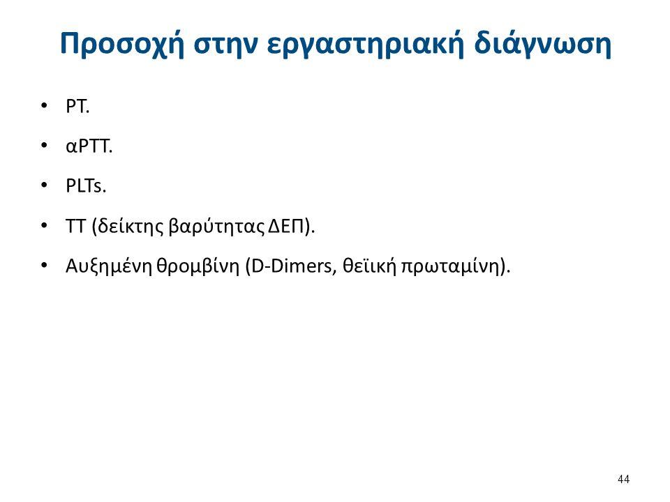Προσοχή στην εργαστηριακή διάγνωση ΡΤ. αΡΤΤ. PLTs.