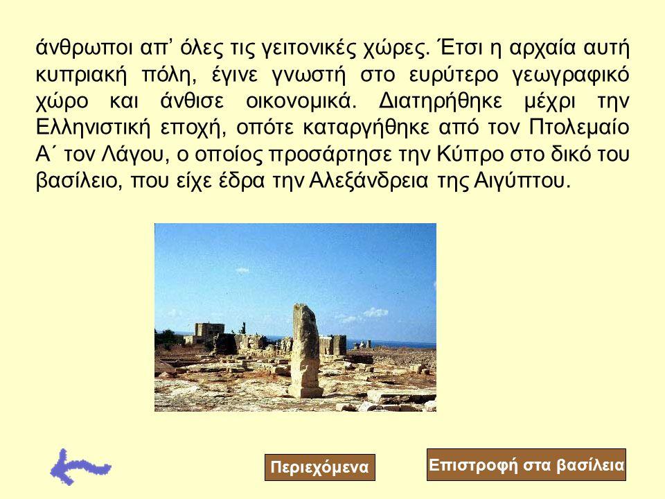 Περιεχόμενα Η Παλαίπαφος ήταν κτισμένη στην τοποθεσία που σήμερα βρίσκεται το χωριό Κούκλια στην επαρχία της Πάφου. Καταλάμβανε μεγάλη έκταση, ίση με