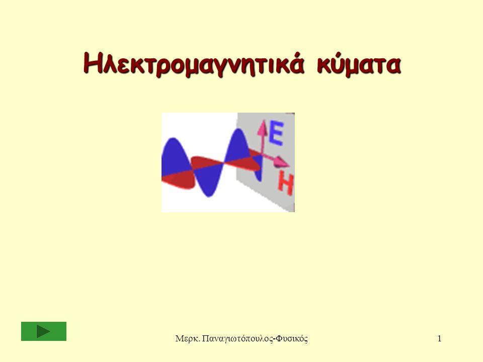 Μερκ. Παναγιωτόπουλος-Φυσικός1 Ηλεκτρομαγνητικά κύματα