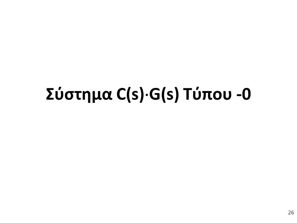 Σύστημα C(s)  G(s) Τύπου -0 26