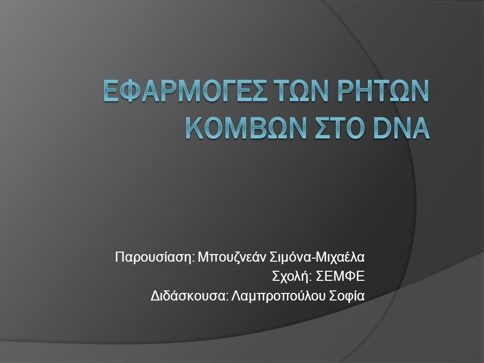 Παρουσίαση: Μπουζνεάν Σιμόνα-Μιχαέλα Σχολή: ΣΕΜΦΕ Διδάσκουσα: Λαμπροπούλου Σοφία