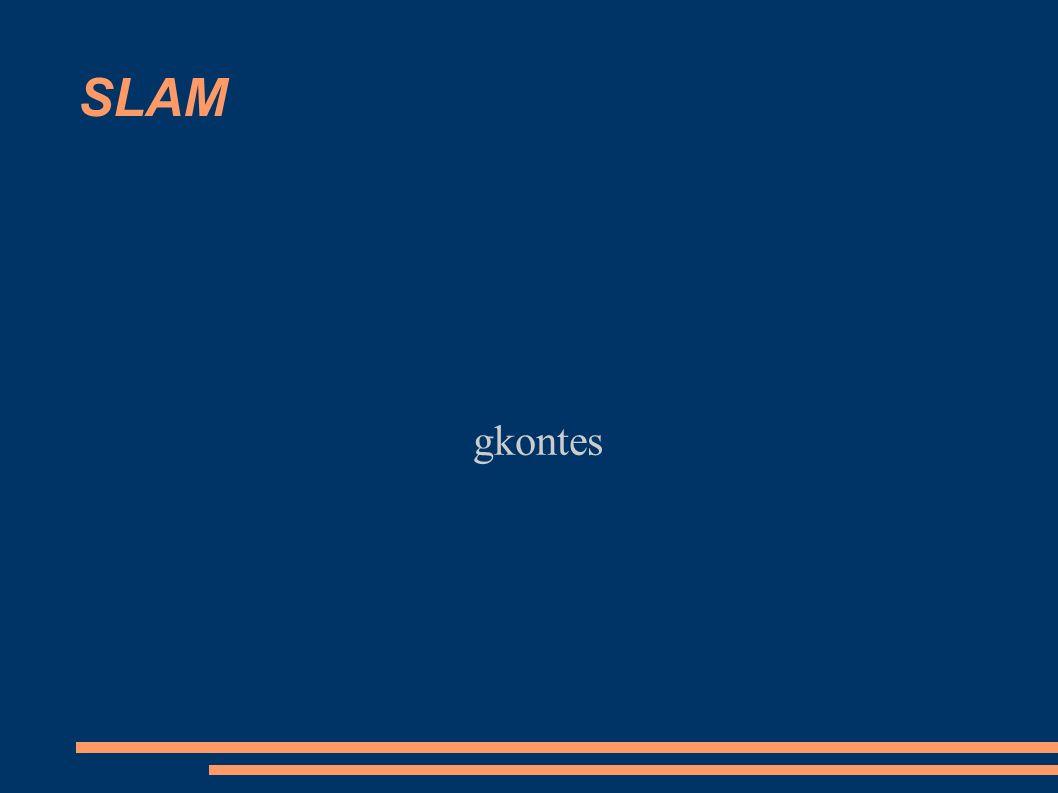 Περίληψη ● H εργασία έχει σκοπό να αξιολογήσει έναν αλγόριθμο για SLAM (Simultaneus Localization And Mapping), τον DP-SLAM καθώς και να τον επεκτείνει ώστε να παρέχει πρόσθετες χρήσιμες πληροφορίες.