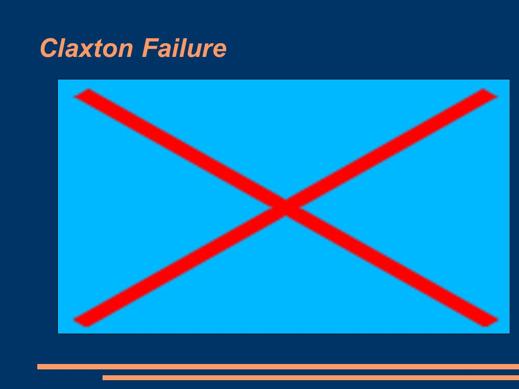 Claxton Failure
