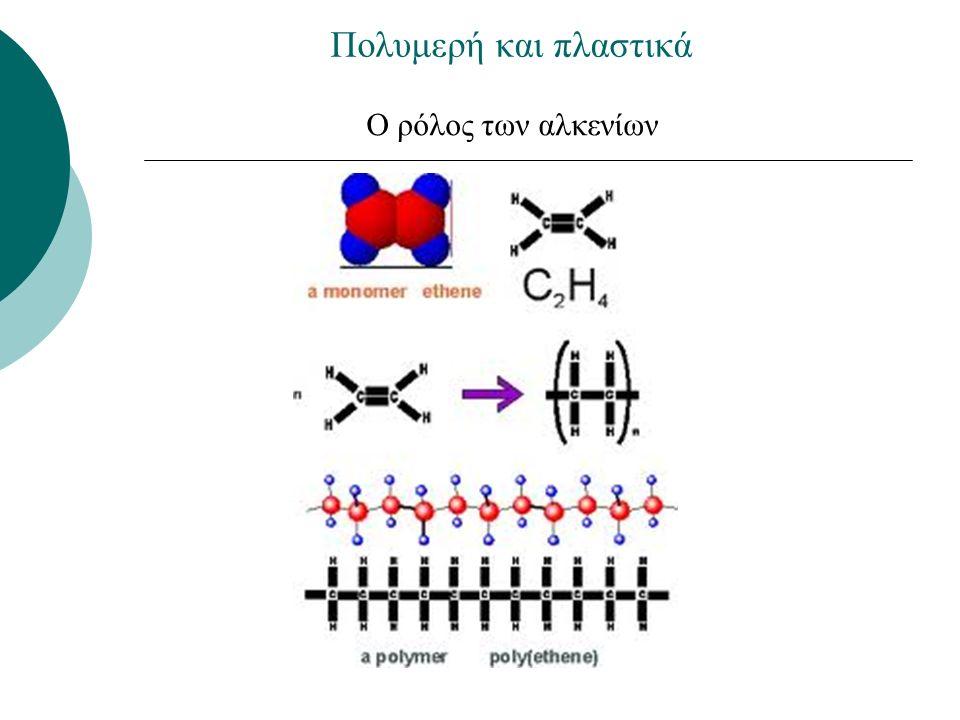O ρόλος των αλκενίων Πολυμερή και πλαστικά