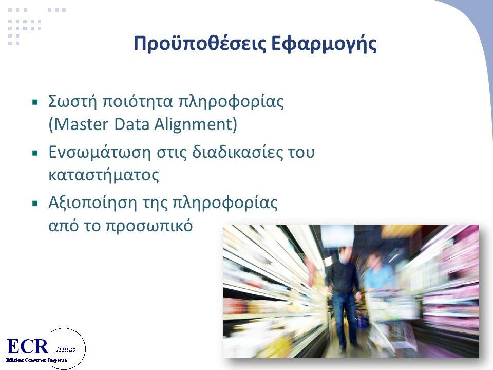 24 Προϋποθέσεις Εφαρμογής Σωστή ποιότητα πληροφορίας (Master Data Alignment) Ενσωμάτωση στις διαδικασίες του καταστήματος Αξιοποίηση της πληροφορίας από το προσωπικό
