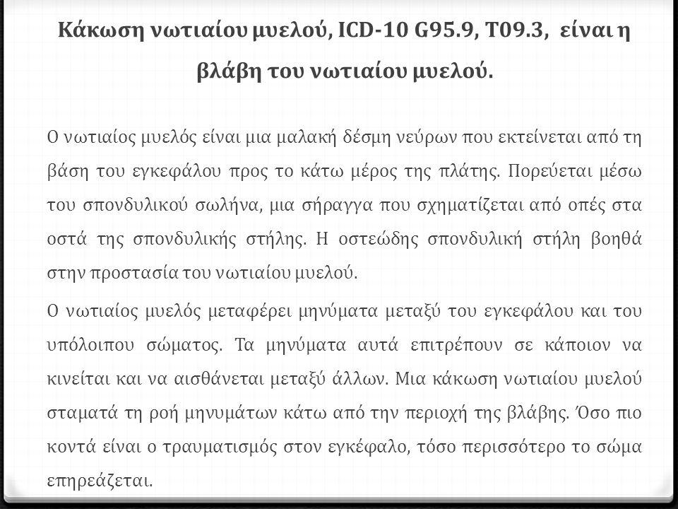 Κάκωση νωτιαίου μυελού, ICD-10 G95.9, T09.3, είναι η βλάβη του νωτιαίου μυελού. Ο νωτιαίος μυελός είναι μια μαλακή δέσμη νεύρων που εκτείνεται από τη
