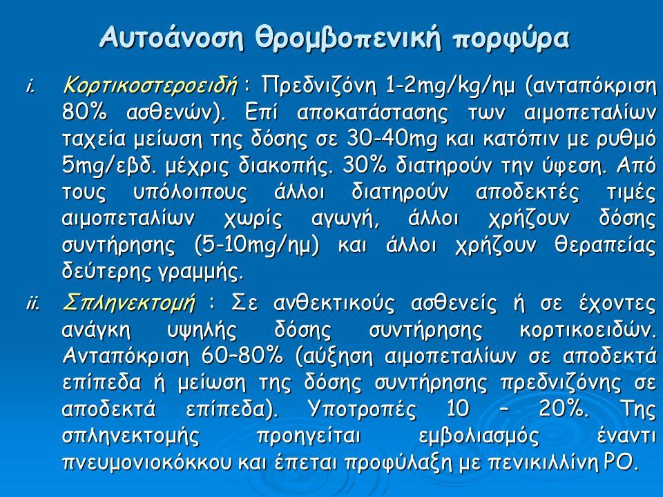Αυτοάνοση θρομβοπενική πορφύρα i.