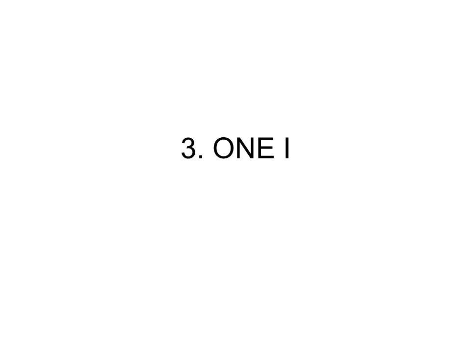 3. ΟΝΕ Ι