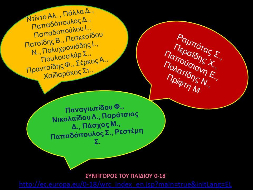 Παναγιωτίδου Φ., Νικολαϊδου Λ., Παράτσιος Δ., Πάσχος Μ., Παπαδόπουλος Σ., Ρεστέμη Σ. Ραμπότας Σ., Περσίδης Χ., Παπούσιανη Ε., Πολατίδης Ν., Πρίφτη Μ Σ