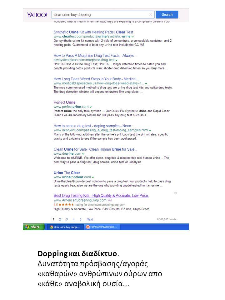 Dopping και διαδίκτυο.