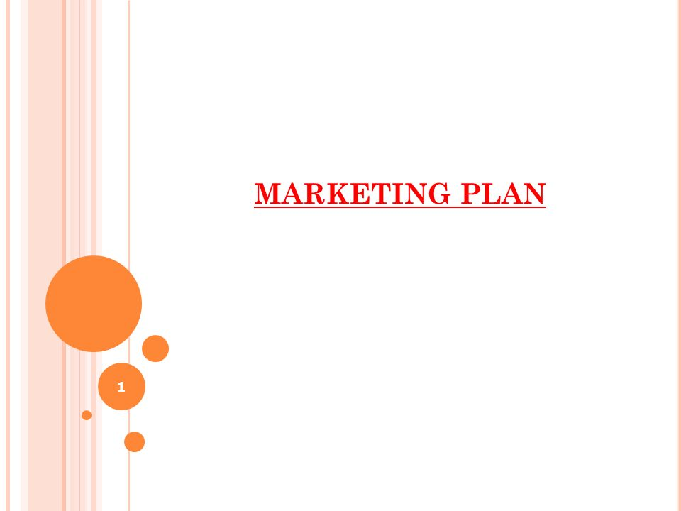 MARKETING PLAN 1