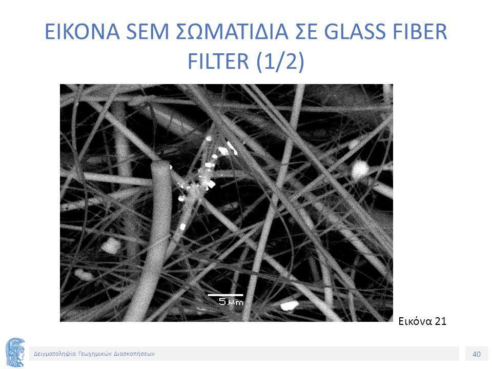 40 Δειγματοληψία Γεωχημικών Διασκοπήσεων EIKONA SEM ΣΩΜΑΤΙΔΙΑ ΣΕ GLASS FIBER FILTER (1/2) Εικόνα 21