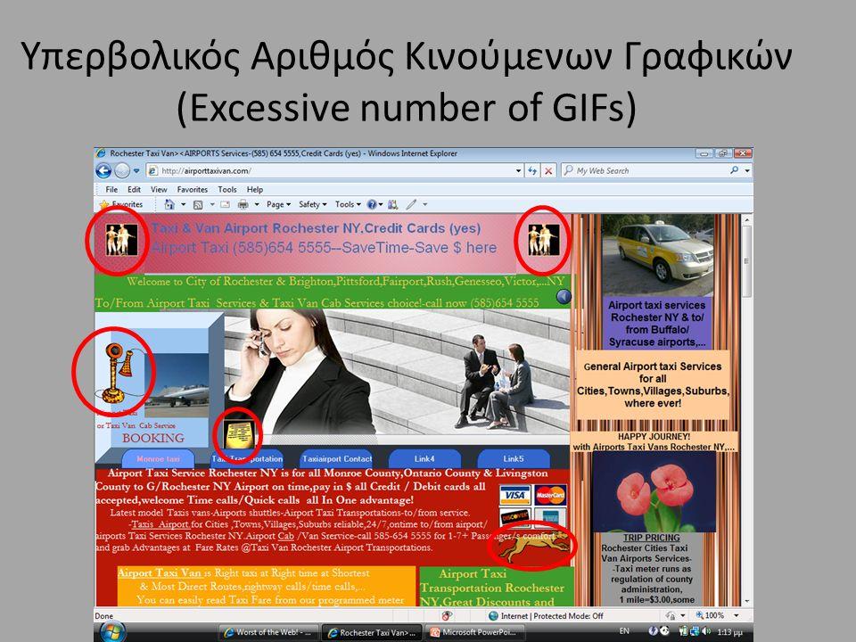 Υπερβολικός Αριθμός Κινούμενων Γραφικών (Excessive number of GIFs)