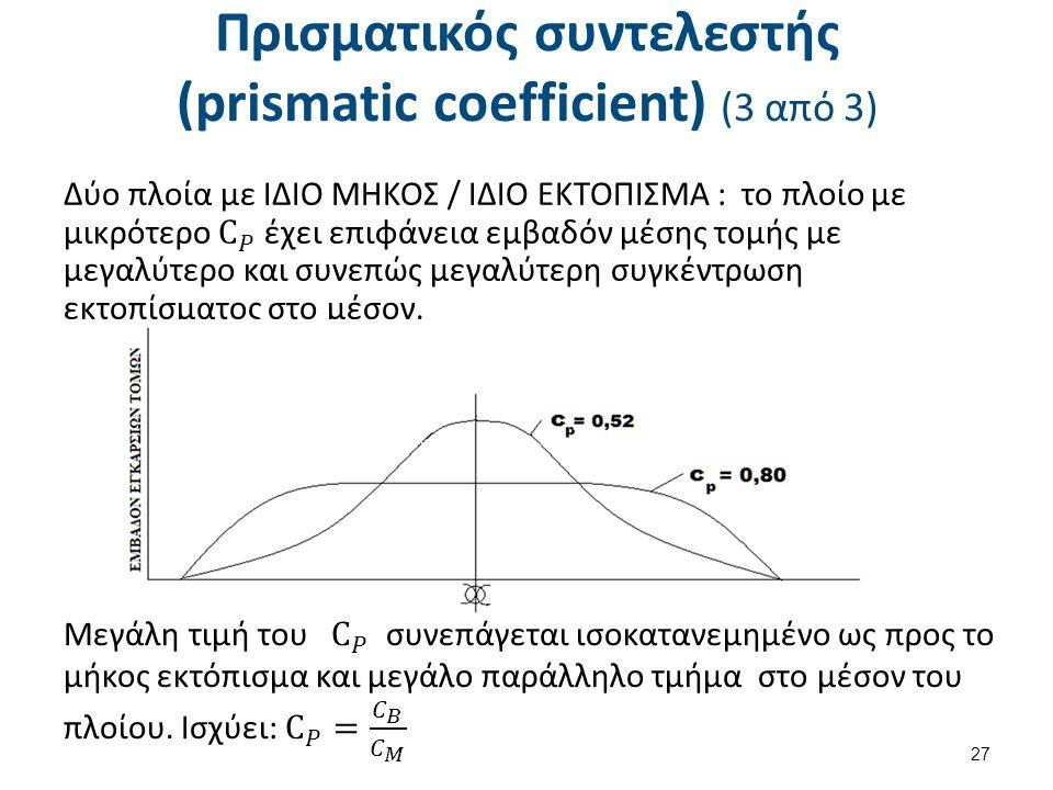Πρισματικός συντελεστής (prismatic coefficient) (3 από 3) 27