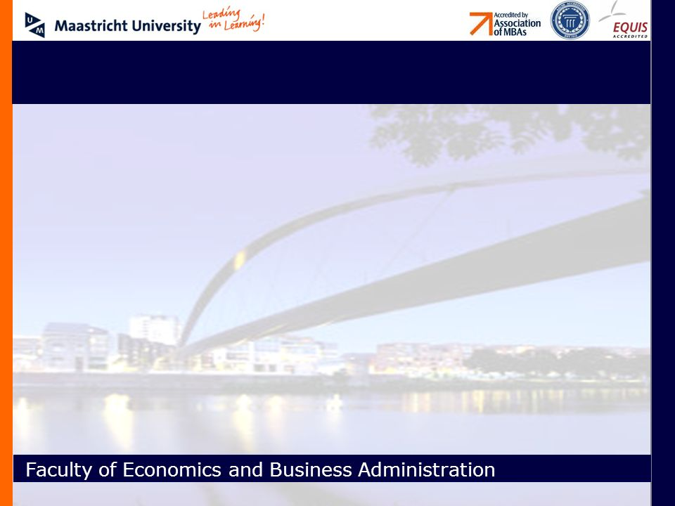 Faculty of Economics and Business Administration