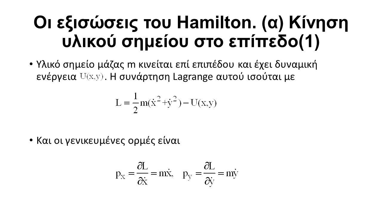 Οι εξισώσεις του Hamilton.
