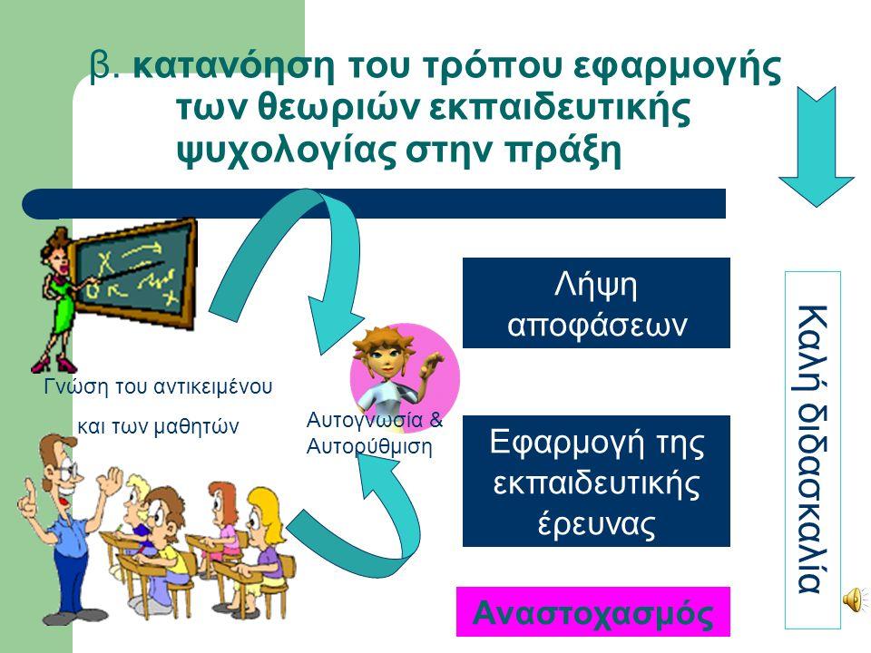 Ενέργειες και θεωρίες Επίπληξη Μορφή τιμωρίας: ο μαθητής προκειμένου να αποφύγει την τιμωρία θα σταματήσει Αδιαφορία Η προσοχή είναι αμοιβή: με την αδιαφορία στερείτε η αμοιβή Διευθυντής Μορφή τιμωρίας: στερείται επίσης και το ενδιαφέρον των άλλων μαθητών Τιμωρία όλης της τάξης Μορφή τιμωρίας: η τάξη θα τον αποτρέψει Εξήγηση Κανόνες διαχείρισης της τάξης: συνεισφορά όλων για την επιτυχία τους