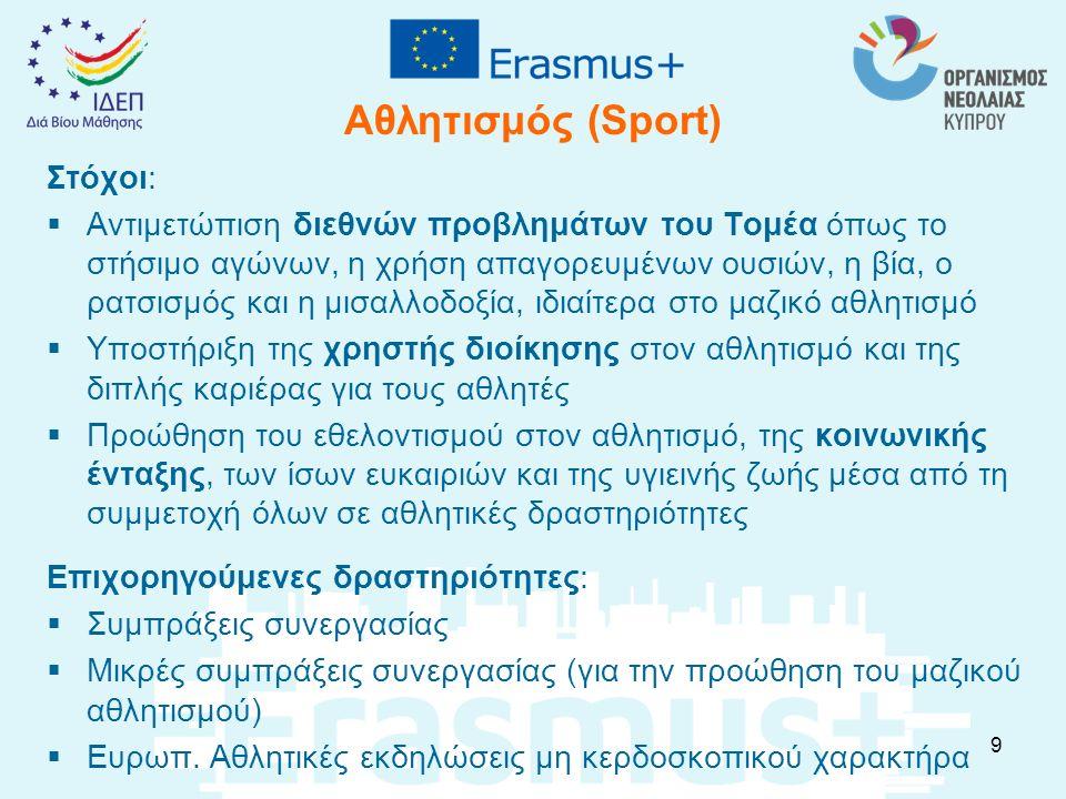 Επιπρόσθετη Προτεραιότητα του Erasmus+ 2016 Οι προτεραιότητες του προγράμματος ανά Τομέα και Δράση αναφέρονται στον Οδηγό του Προγράμματος Όμως, λόγω των πρόσφατων προκλήσεων που προέκυψαν από τη μαζική μετακίνηση μεταναστών προς την Ευρώπη, η ΕΕ έθεσε ως προτεραιότητα για τη διαδικασία επιλογής σχεδίων, στα πλαίσια του Προγράμματος Erasmus+ για το 2016, αυτά των οποίων το θέμα σχετίζεται με τους πρόσφυγες.