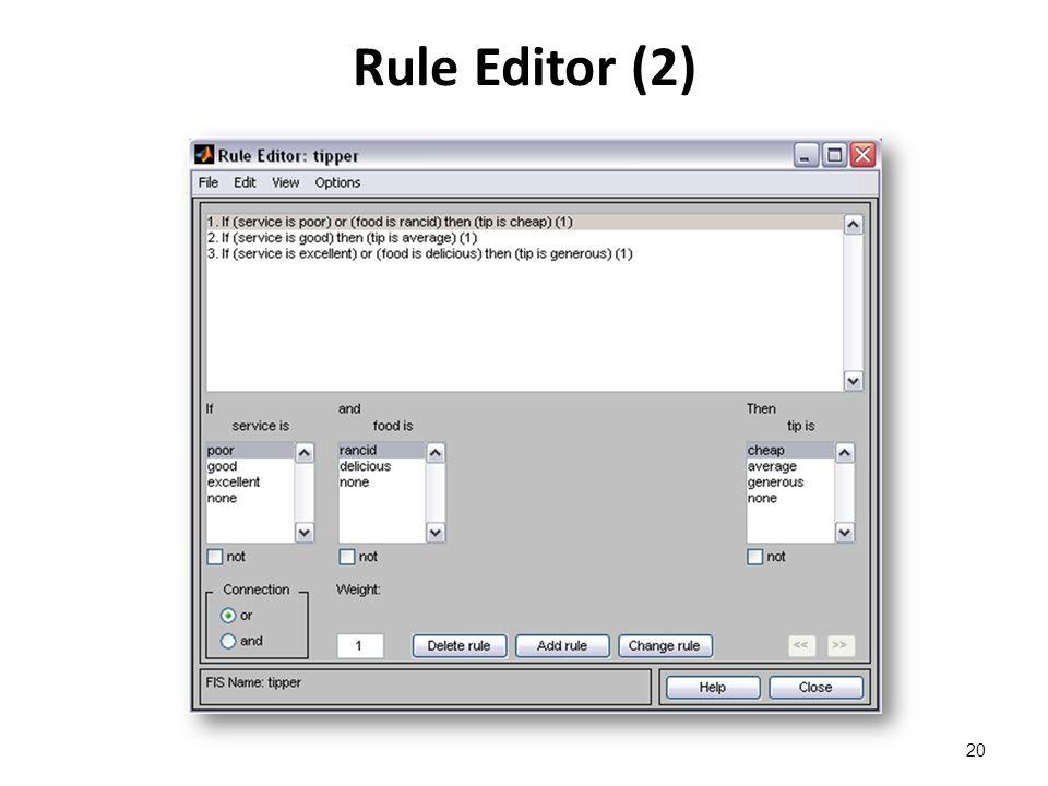 Rule Editor (2) 20