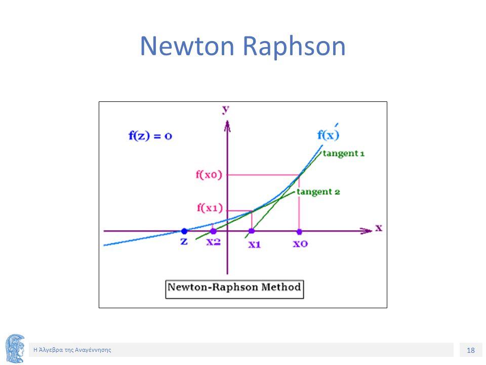 18 Η Άλγεβρα της Αναγέννησης Newton Raphson