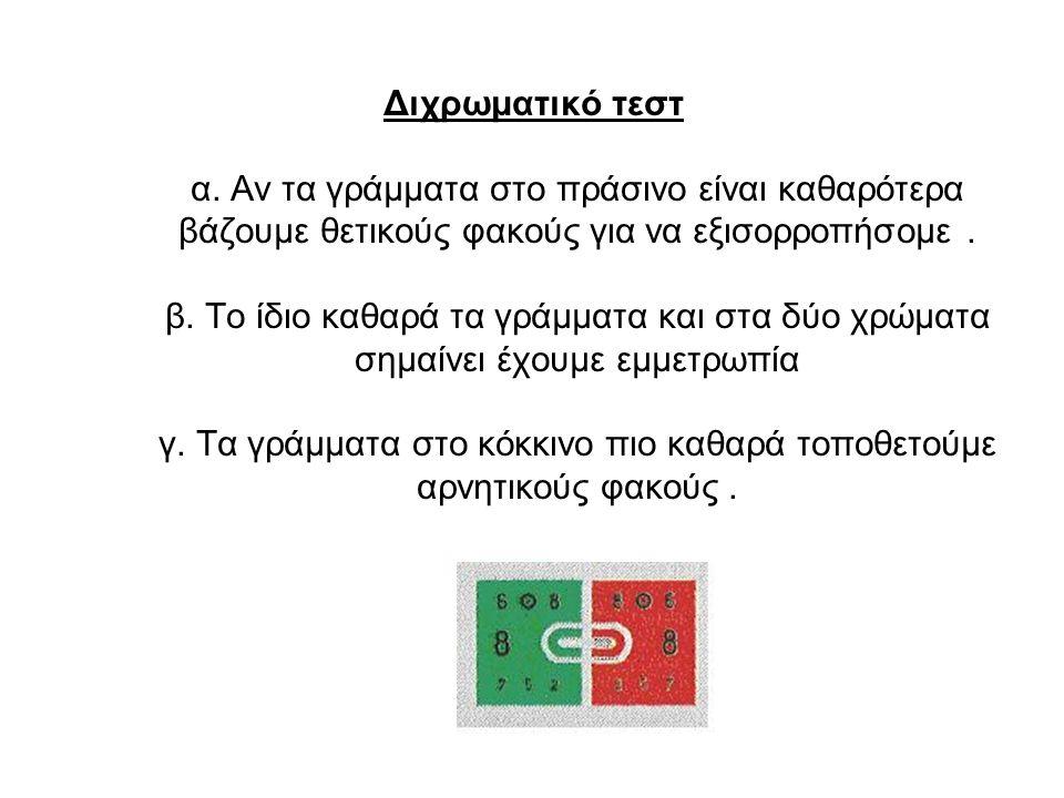 Διχρωματικό τεστ α.